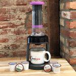 manual k cup coffee brewer gourmia k cup press