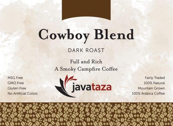 cowboy blend whole bean coffee for sale