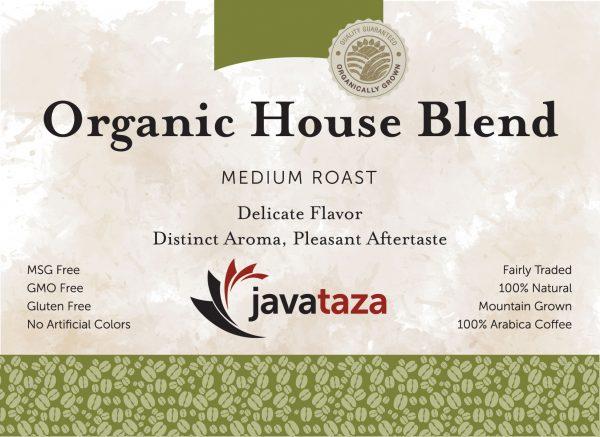 organic coffee house blend javataza