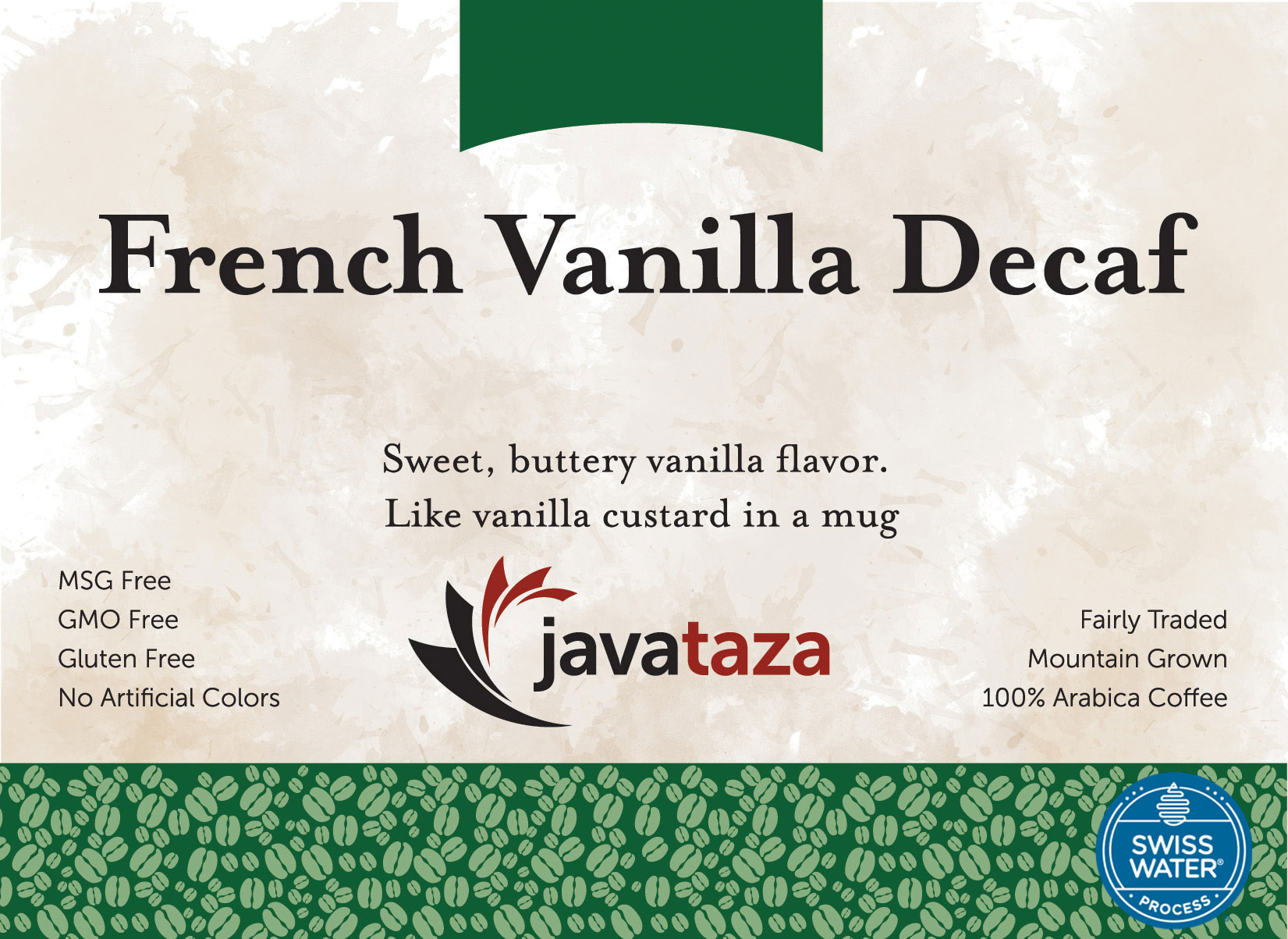 french vanilla decaf coffee swiss water processed
