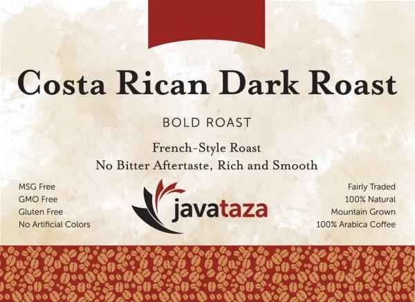 costa rican dark roast ground specialty coffee