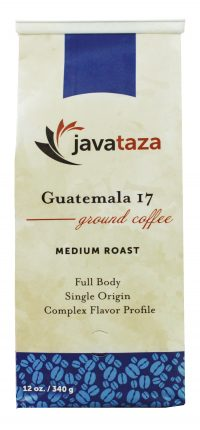 javataza coffee guatemala 17 ground coffee 12oz
