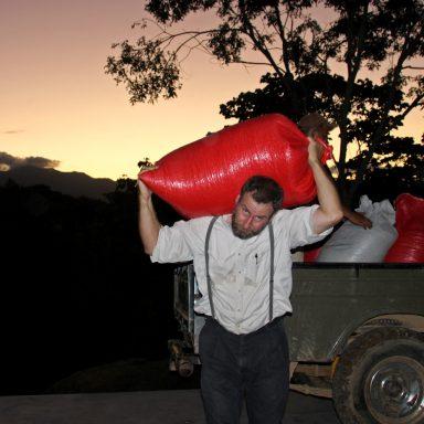 12 unloading truck 2019 coffee harvest in honduras