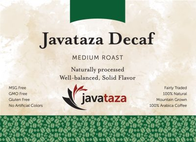 javataza fair trade decaf coffee for sale