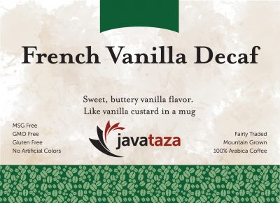french vanilla decaf coffee
