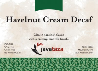 hazelnut cream decaf coffee