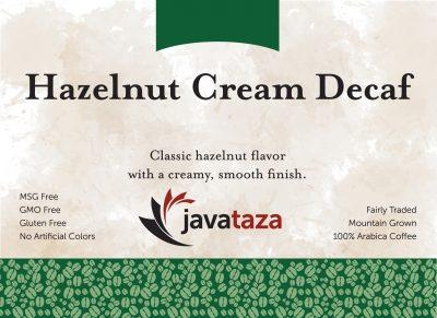hazelnut cream decaf coffee