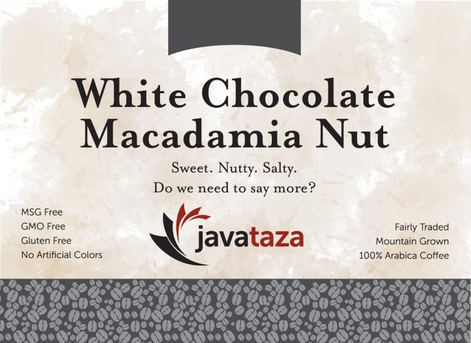 white chocolate mac nut ground sustainable coffee