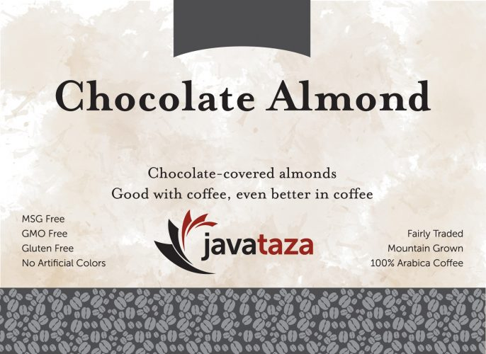 chocolate almond ground flavored coffee