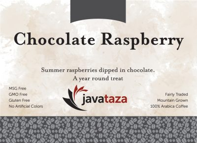 chocolate raspberry ground flavored coffee