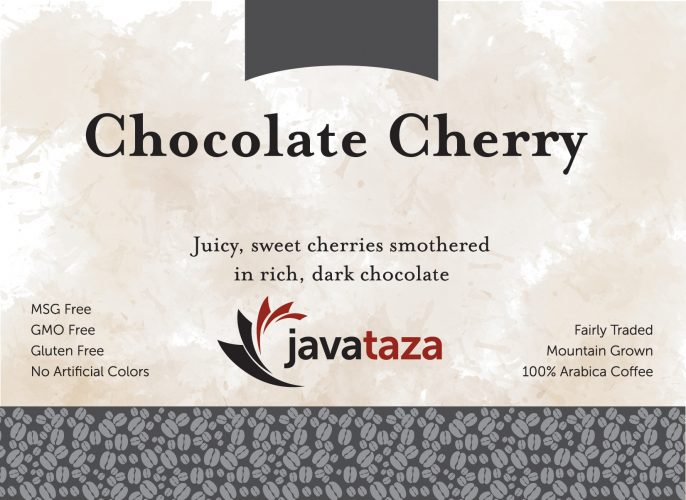 chocolate cherry ground flavored coffee
