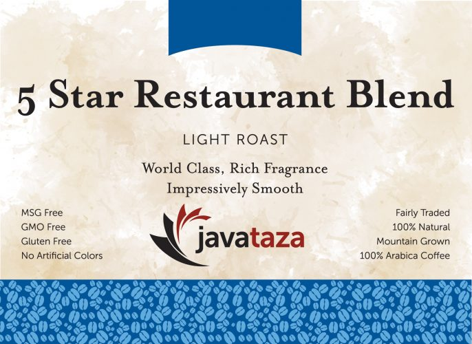 5 star restaurant blend ground specialty coffee
