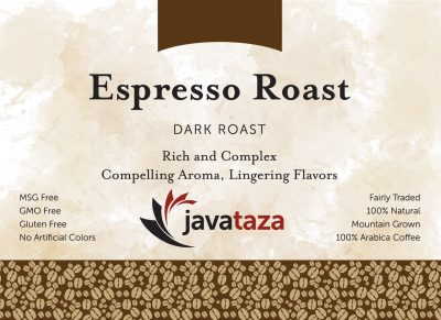 espresso roast ground single origin coffee
