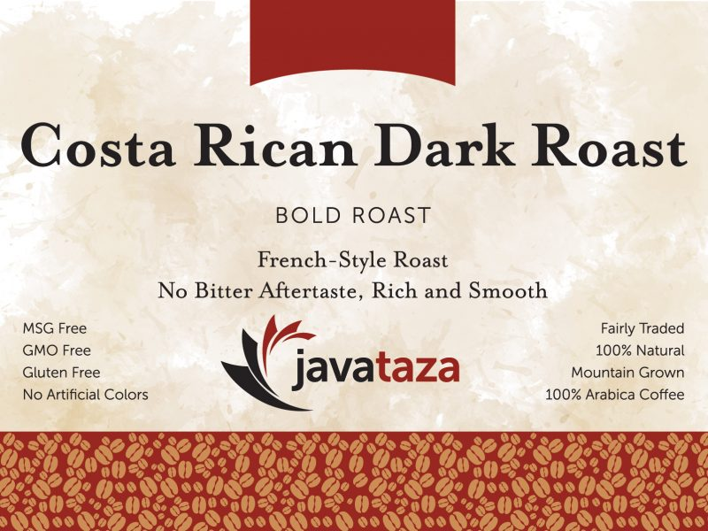 costa rican dark roast ground specialty coffee