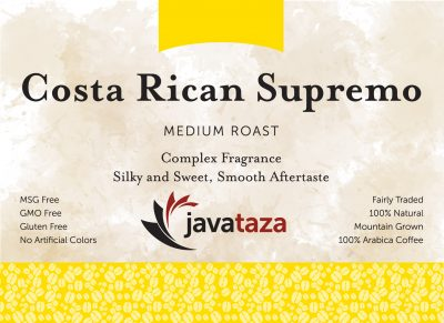 costa rican supremo ground specialty coffee