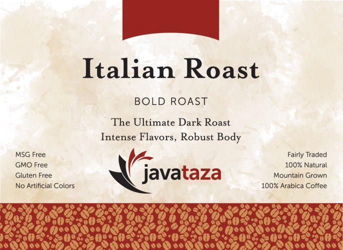 italian roast ground fair trade coffee