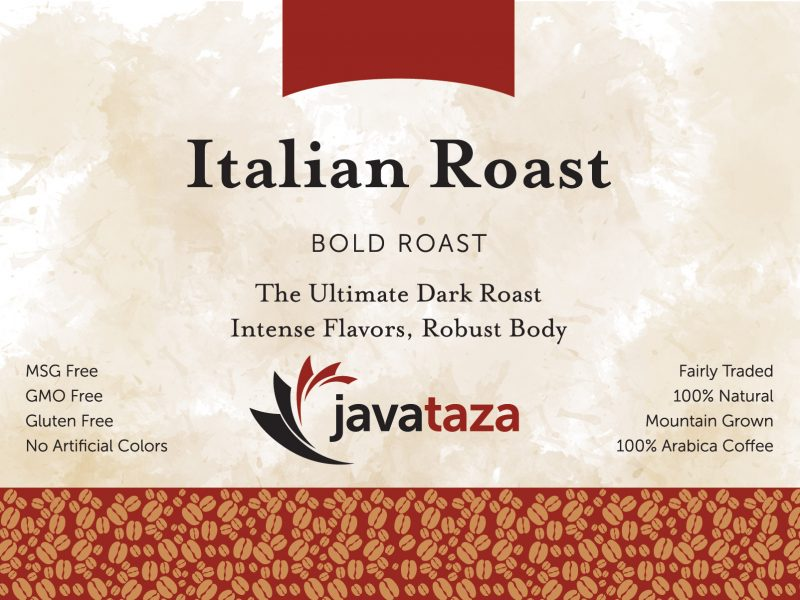 italian roast ground fair trade coffee
