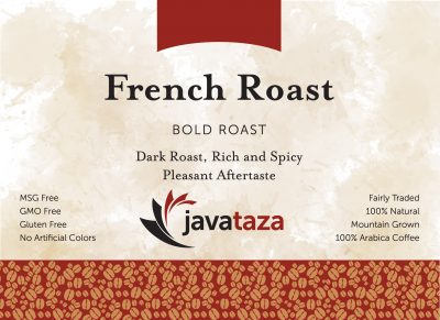 french roast ground gourmet coffee