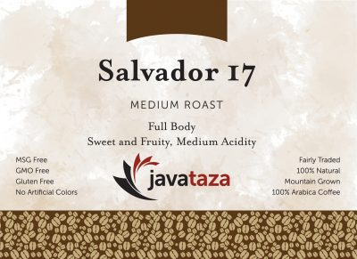 salvador 17 ground fair trade coffee