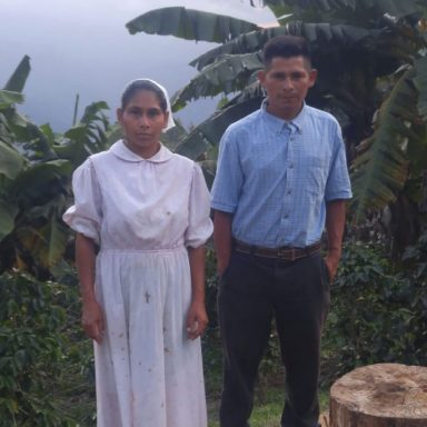 buenaventura gonzales grows coffee for javataza in honduras 1300lbs